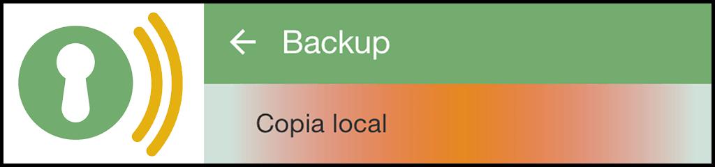 Cómo realizar un backup local